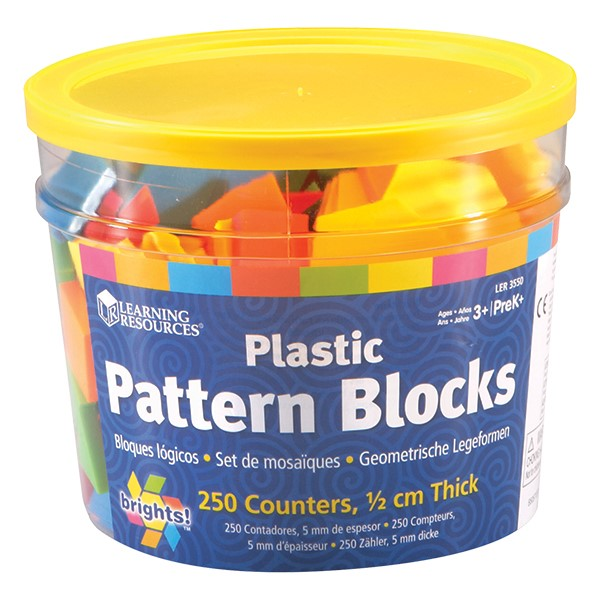 Brights! Pattern Blocks - Set of 250