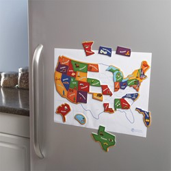 Magnetic US Map Puzzle - Map Outline