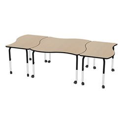 Shapes Series Square Wave Collaborative Table w/ Laminate Top - Grouped