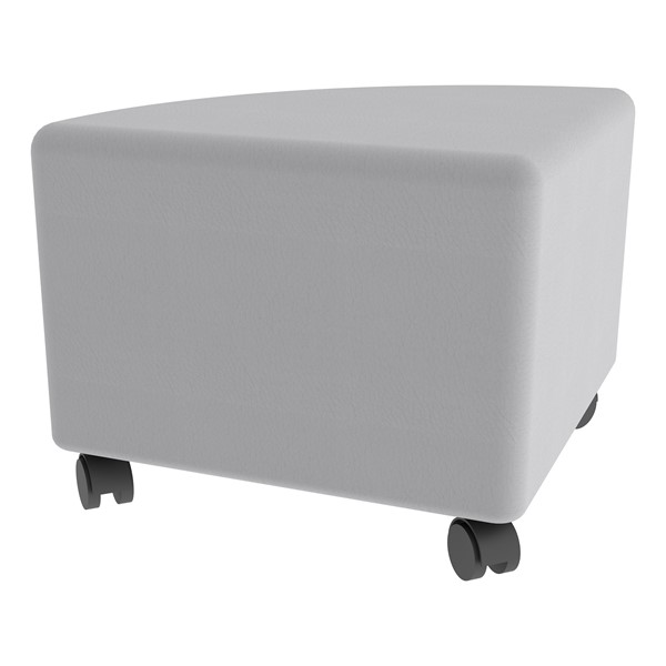 "Shapes Series II Vinyl Soft Seating - Pie (12"" H) - Caster"