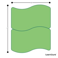 Shapes Series Rectangular Wave Collaborative Table w/ HPL Top - Grouped Footprint