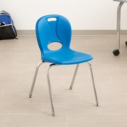 """Structure Series School Chair (18"""" Seat Height) - Brilliant Blue"""