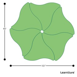 Shapes Series Triangular Wave Collaborative Table w/ HPL Top - Grouped Footprint