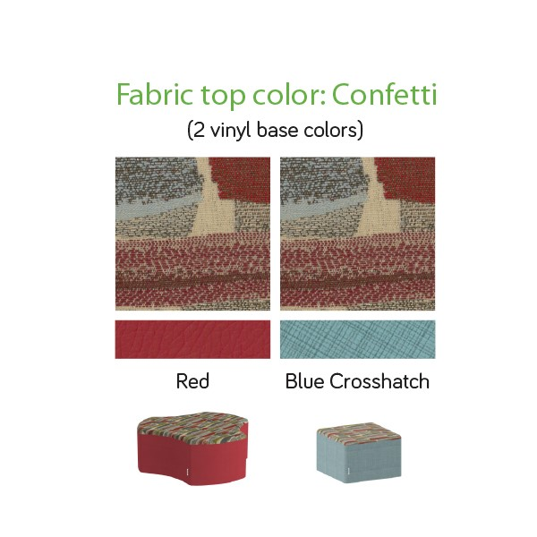Shapes Series II Designer Soft Seating - Color Combinations