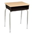 Open Front Desk w/ Color Book Box