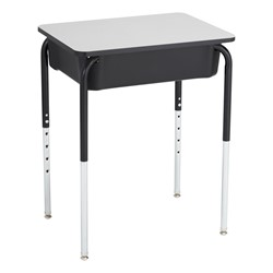 Open Front Desk w/ Black Book Box and Frame and 18-Inch Structure Series School Chair Set - Desk