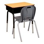 "Open Front Desk w/ Metal Book Box & 18"" Structure Series School Chair Set"