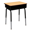Adjustable-Height School Desk