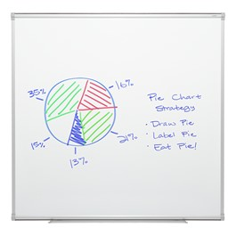 Porcelain Steel Magnetic Dry Erase Board w/ Aluminum Frame & Map Rail (4\' W x 4\' H)