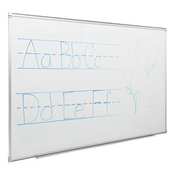 Porcelain Steel Magnetic Dry Erase Board w/ Aluminum Frame & Map Rail