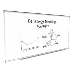 Porcelain Steel Magnetic Dry Erase Board w/ Aluminum Frame & Map Rail