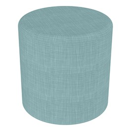 "Shapes Series II Vinyl Soft Seating - Cylinder (18\"" High) - Blue Crosshatch"