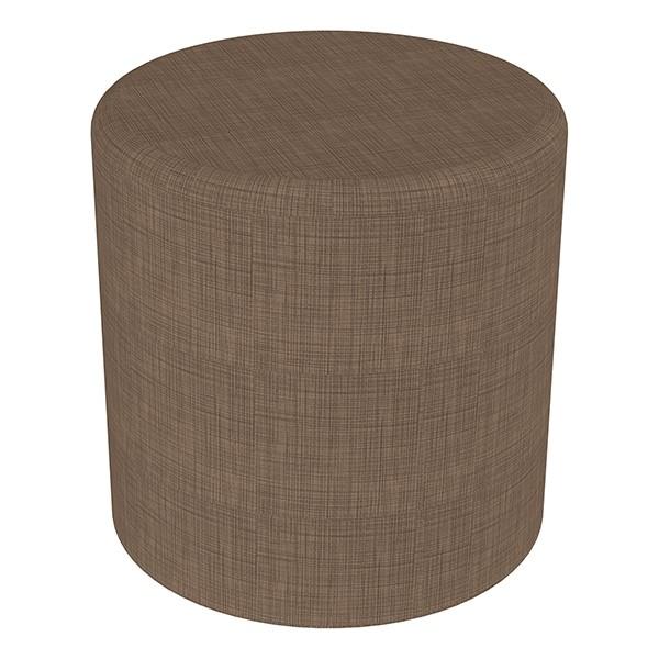 "Shapes Series II Vinyl Soft Seating - Cylinder (18"" High) - Brown Crosshatch"