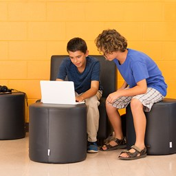 Shapes Series II Vinyl Soft Seating - Circle Ottoman