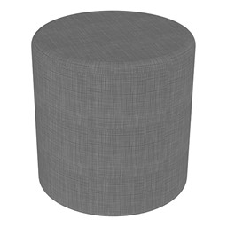 """Shapes Series II Vinyl Soft Seating - Cylinder (18"""" High) - Gray Crosshatch"""