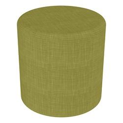 "Shapes Series II Vinyl Soft Seating - Cylinder (18"" High) - Green Crosshatch"