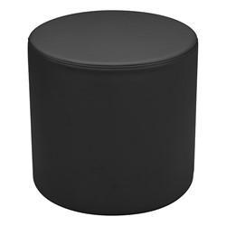 "Shapes Series II Vinyl Soft Seating - Cylinder (18"" High) - Black Smooth Grain"