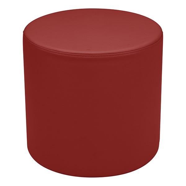 "Shapes Series II Vinyl Soft Seating - Cylinder (18"" High) - Burgundy Smooth Grain"