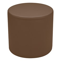 """Shapes Series II Vinyl Soft Seating - Cylinder (18"""" High) - Chocolate Smooth Grain"""