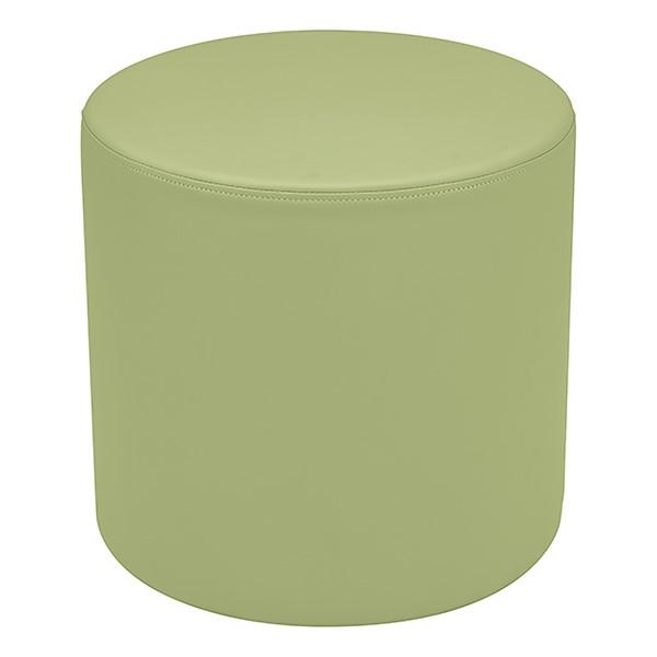 "Shapes Series II Vinyl Soft Seating - Cylinder (18"" High) - Fern Green Smooth Grain"