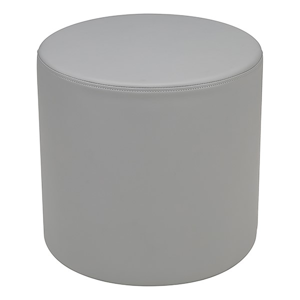 """Shapes Series II Vinyl Soft Seating - Cylinder (18"""" High) - Light Gray Smooth Grain"""