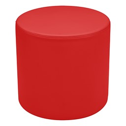 """Shapes Series II Vinyl Soft Seating - Cylinder (18"""" High) - Red Smooth Grain"""