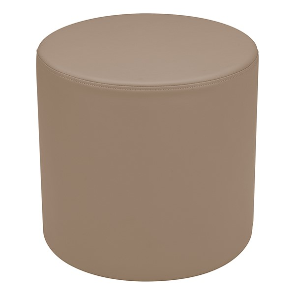 """Shapes Series II Vinyl Soft Seating - Cylinder (18"""" High) - Taupe Smooth Grain"""