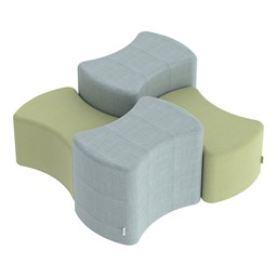 Shapes Series II Vinyl Soft Seating - Bow Tie - Grouped