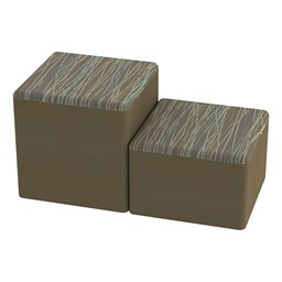 Shapes Series II Designer Soft Cube Seating - Pecan/Chocolate