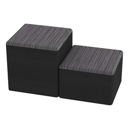 Shapes Series II Designer Soft Cube Seating - Pepper/Black