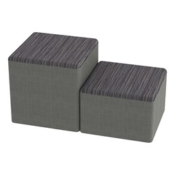 Shapes Series II Designer Soft Cube Seating - Pepper/Gray