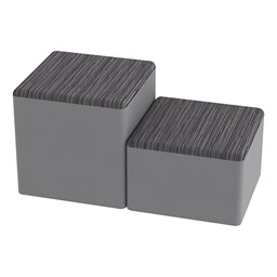 Shapes Series II Designer Soft Cube Seating - Pepper/Light Gray