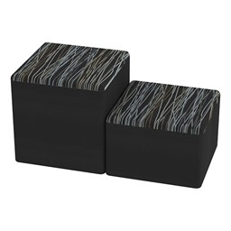 Shapes Series II Designer Soft Cube Seating - Cube - Peppercorn/Black