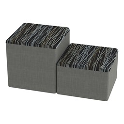 Shapes Series II Designer Soft Cube Seating - Peppercorn/Gray