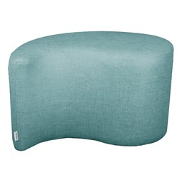 "Shapes Series II Vinyl Soft Seating - Teardrop (18"" High) - Blue Crosshatch"