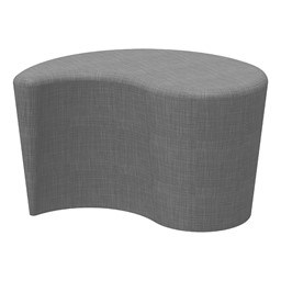 "Shapes Series II Vinyl Soft Seating - Teardrop (18"" High) - Gray Crosshatch"