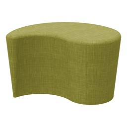 "Shapes Series II Vinyl Soft Seating - Teardrop (18"" High) - Green Crosshatch"