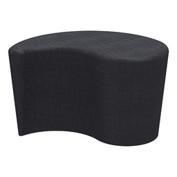 "Shapes Series II Vinyl Soft Seating - Teardrop (18"" High) - Navy Crosshatch"