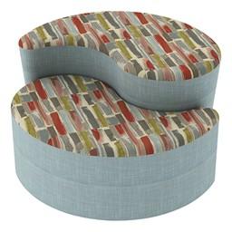 Shapes Series II Designer Soft Seating - Teardrop - Confetti/Blue