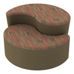Shapes Series II Designer Soft Seating - Teardrop - Dark Latte/Chocolate