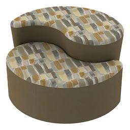 Shapes Series II Designer Soft Seating - Teardrop - Desert/Chocolate
