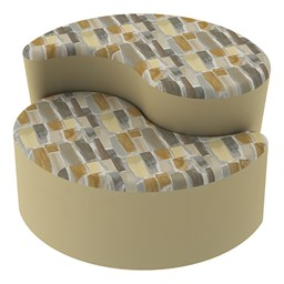 Shapes Series II Designer Soft Seating - Teardrop - Desert/Sand