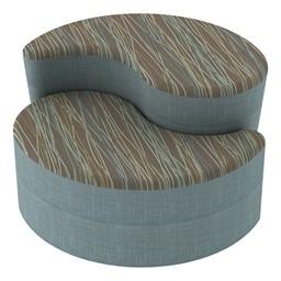 Shapes Series II Designer Soft Seating - Teardrop - Pecan/Blue