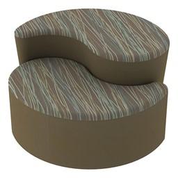 Shapes Series II Designer Soft Seating - Teardrop - Pecan/Chocolate