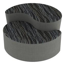 Shapes Series II Designer Soft Seating - Teardrop - Peppercorn/Gray