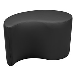"Shapes Series II Vinyl Soft Seating - Teardrop (18"" High) - Black Smooth Grain"