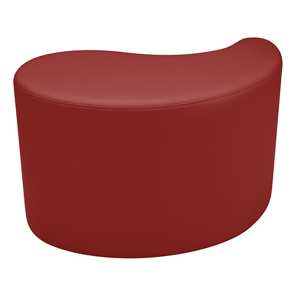 "Shapes Series II Vinyl Soft Seating - Teardrop (18"" High) - Burgundy Smooth Grain"
