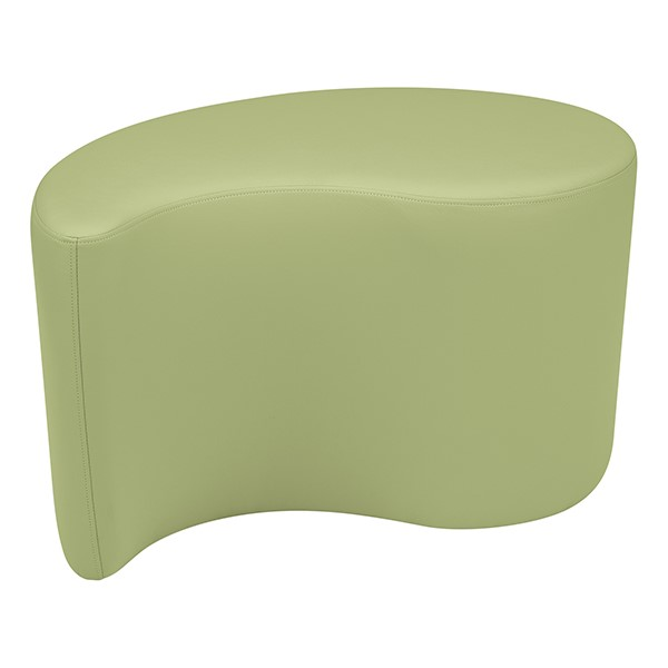 "Shapes Series II Vinyl Soft Seating - Teardrop (18"" High) - Fern Green Smooth Grain"