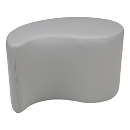 "Shapes Series II Vinyl Soft Seating - Teardrop (18"" High) - Light Gray Smooth Grain"