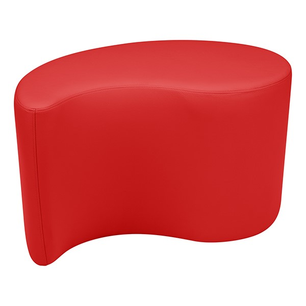 "Shapes Series II Vinyl Soft Seating - Teardrop (18"" High) - Red Smooth Grain"